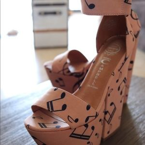 🎵🎶JEFFREY CAMPBELL FORGET IN PINK MUSIC NOTES